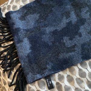 Paul Smith blue camo scarf